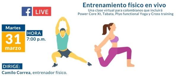 Consulado de Colombia en Houston invita a seguir por FacebookLife el entrenamiento físico
