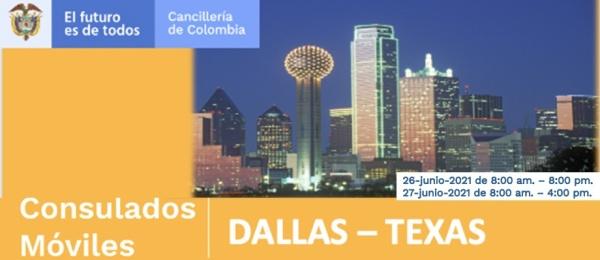 Consulado de Colombia en Houston invita al Consulado Móvil en Dallas que se realizará el 26 y 27 de junio