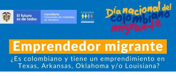 El Consulado de Colombia en Houston invita al Emprendedor migrante para hacer parte del directorio