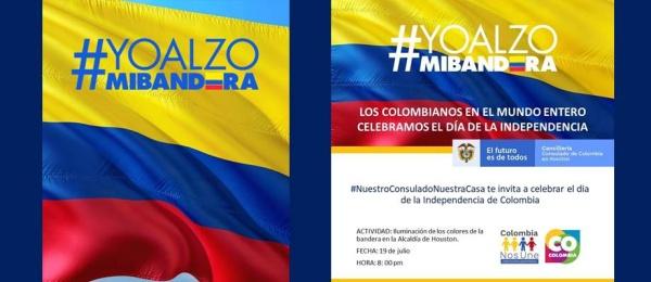 La Alcaldía de Houston se iluminará con los colores de la bandera de Colombia, este lunes 19 de julio, para celebrar nuestro Día de la Independencia Nacional