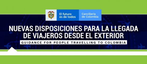 Nuevas disposiciones para la llegada a Colombia de viajeros desde el exterior