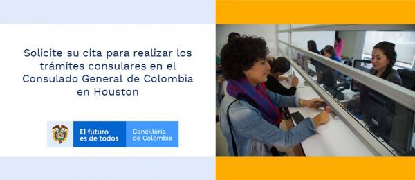 Solicite su cita para realizar los trámites consulares en el Consulado General de Colombia