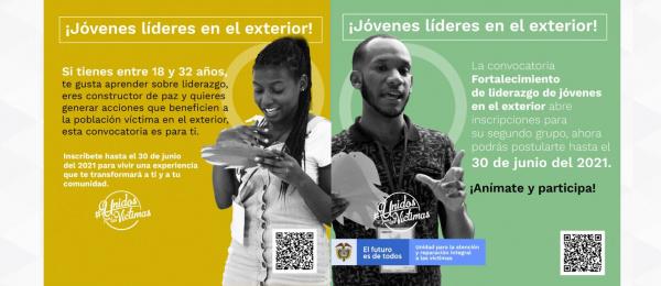 Jóvenes víctimas del conflicto armado en el exterior, participen en la Estrategia de Fortalecimiento de Liderazgos de la Unidad para las Víctimas